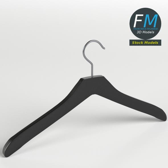 Plastic coat hanger 1 - 3DOcean Item for Sale