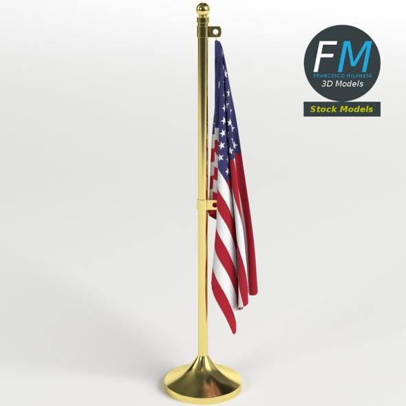 American flag office decor - 3DOcean Item for Sale