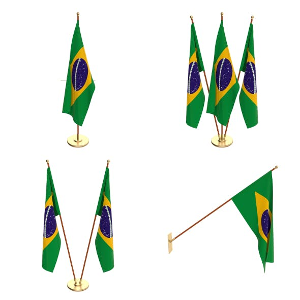 Brazil Flag Pack - 3DOcean Item for Sale