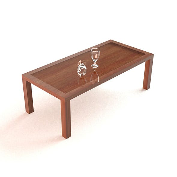 Simple Wood Table - 3DOcean Item for Sale