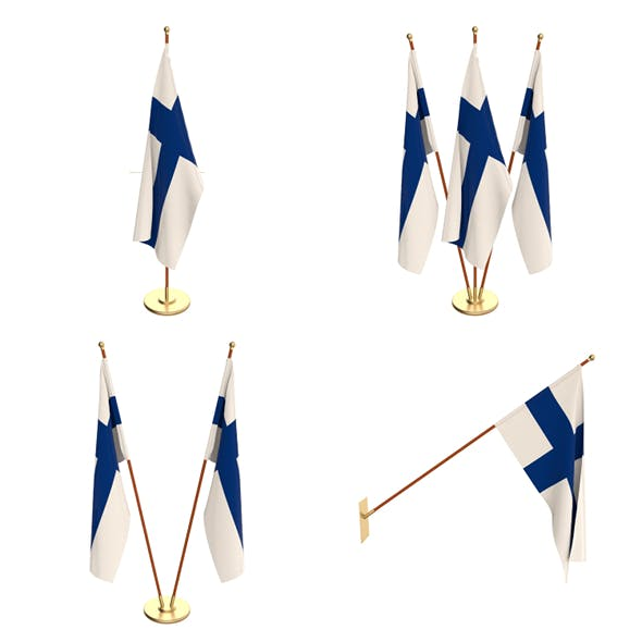 Finland Flag Pack - 3DOcean Item for Sale
