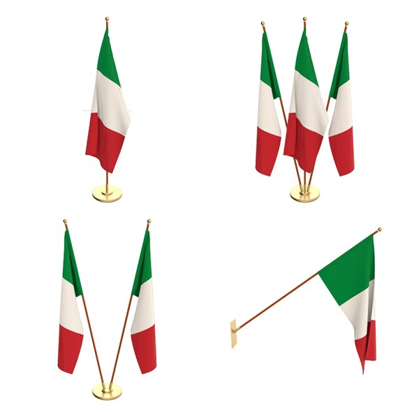 Italy Flag Pack - 3DOcean Item for Sale