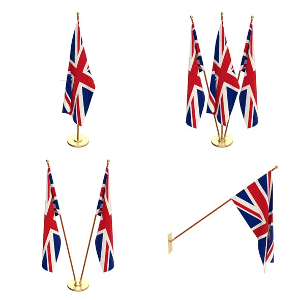 Great Britain Flag Pack - 3DOcean Item for Sale