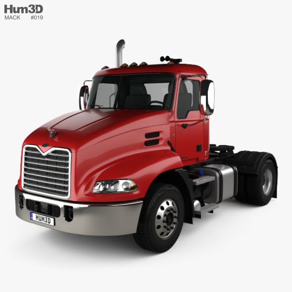 Mack Pinnacle Day Cab Tractor Truck 2011 - 3DOcean Item for Sale