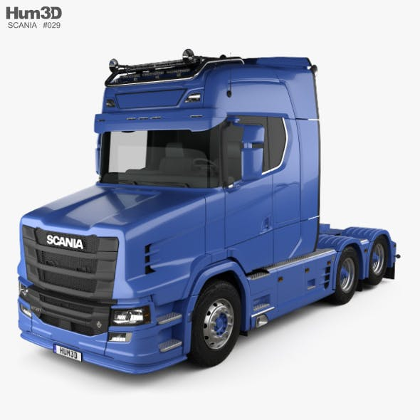 Scania S730 T Tractor Truck 2017 - 3DOcean Item for Sale