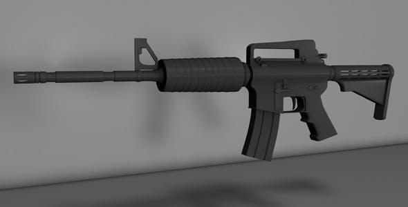 M4A1_Basic Modeling - 3DOcean Item for Sale
