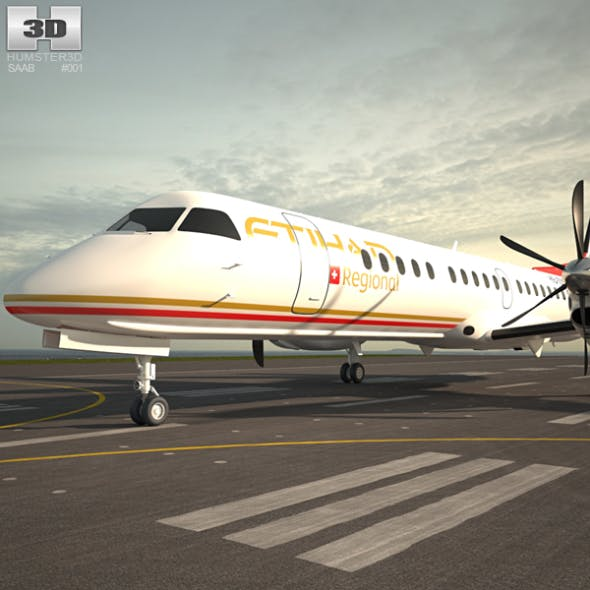 Saab 2000 - 3DOcean Item for Sale