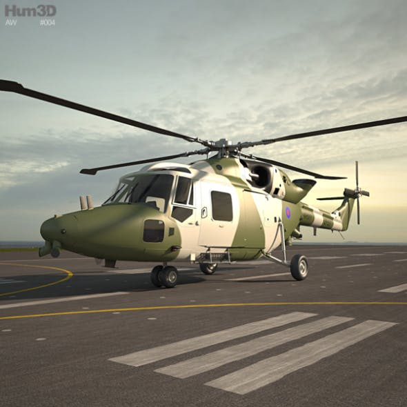 Westland Lynx AH 9 - 3DOcean Item for Sale