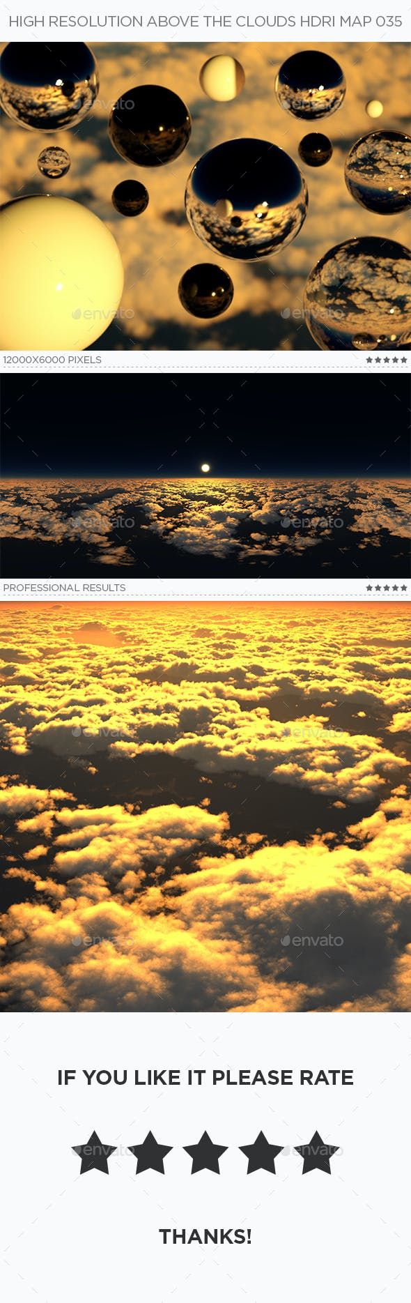 High Resolution Above The Clouds HDRi Map 035 - 3DOcean Item for Sale