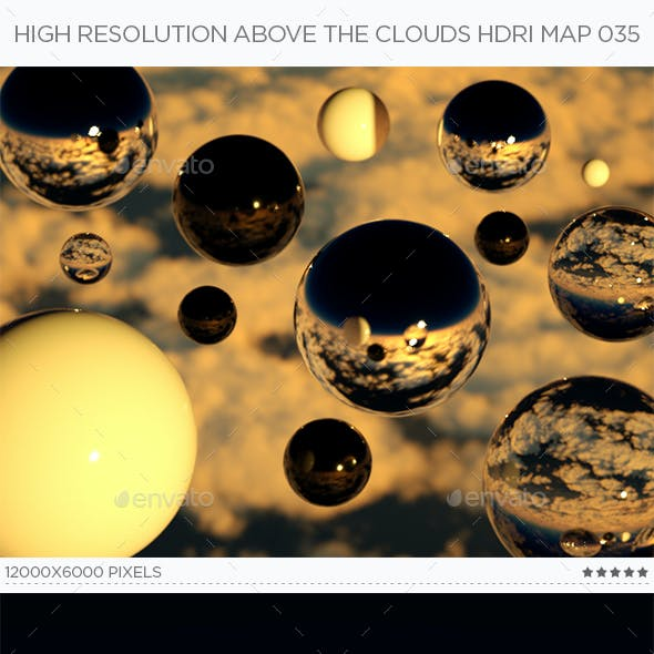 High Resolution Above The Clouds HDRi Map 035