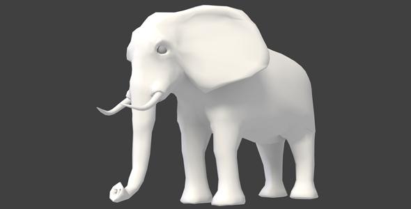 Elephant Medium-Poly Basemesh - 3DOcean Item for Sale
