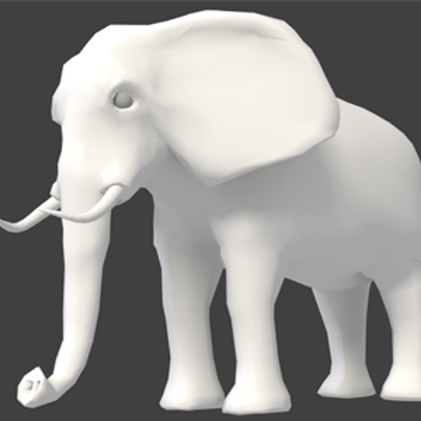 Elephant Medium-Poly Basemesh