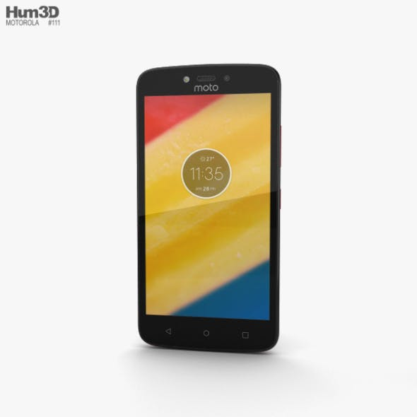 Motorola Moto C Metallic Cherry - 3DOcean Item for Sale