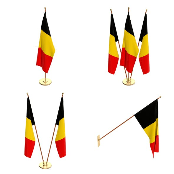 Belgium Flag pack - 3DOcean Item for Sale