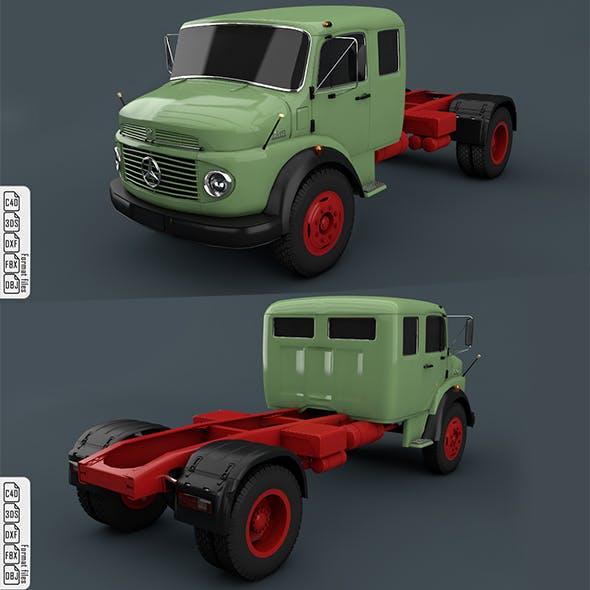 Mercedes Benz Truck 1519 Green - 3DOcean Item for Sale