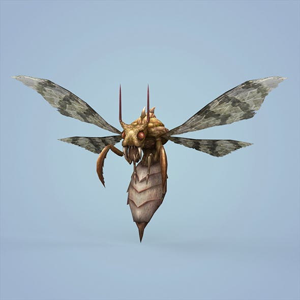 Fantasy Monster Bee - 3DOcean Item for Sale