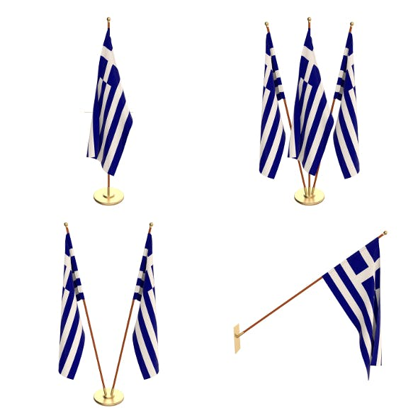Greece Flag Pack - 3DOcean Item for Sale