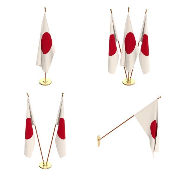 Japan Flag Pack - 3DOcean Item for Sale