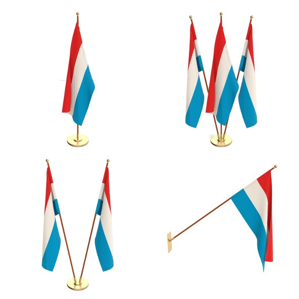Luxemburg Flag Pack - 3DOcean Item for Sale