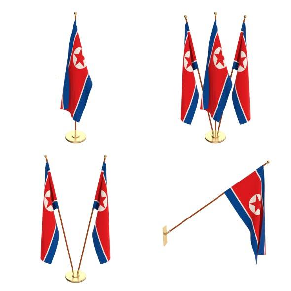 North Korea Flag Pack - 3DOcean Item for Sale