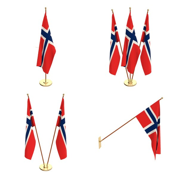 Norway Flag Pack - 3DOcean Item for Sale