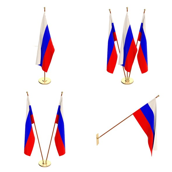 Russia Flag Pack - 3DOcean Item for Sale