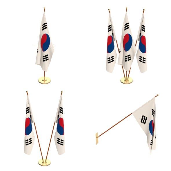 South Korea Flag Pack - 3DOcean Item for Sale