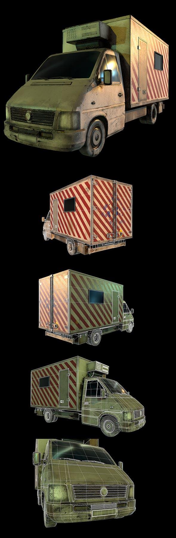 PBR Cargo Truck - 3DOcean Item for Sale