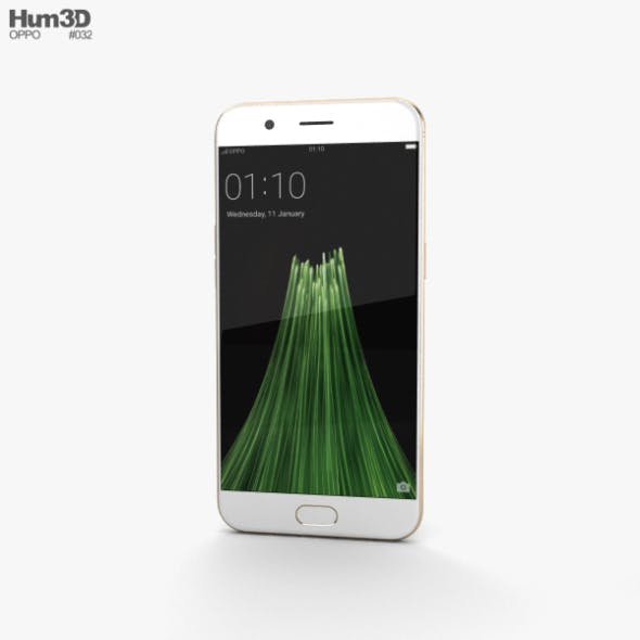 Oppo R11 Gold - 3DOcean Item for Sale