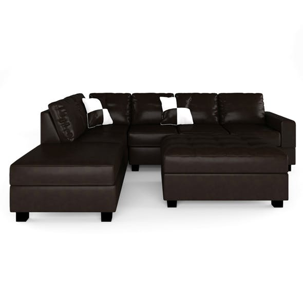 Russ Sectional with Ottoman - 3DOcean Item for Sale
