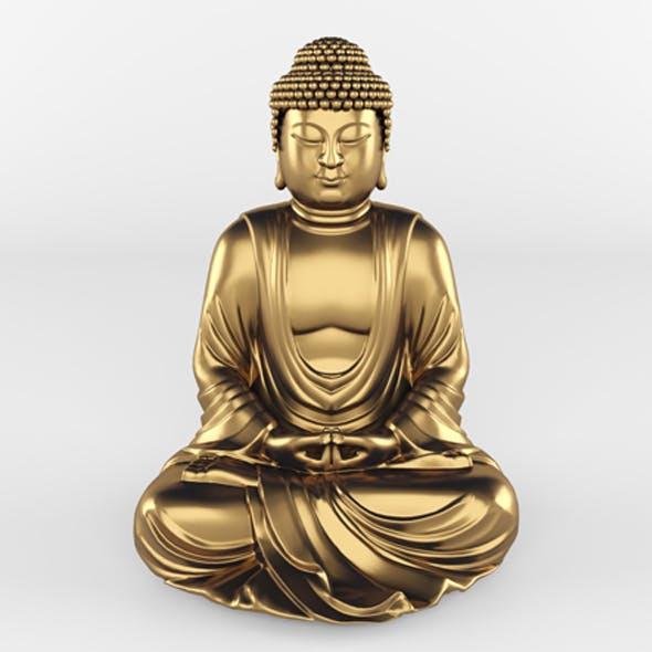 Meditating Buddha Statue - 3DOcean Item for Sale
