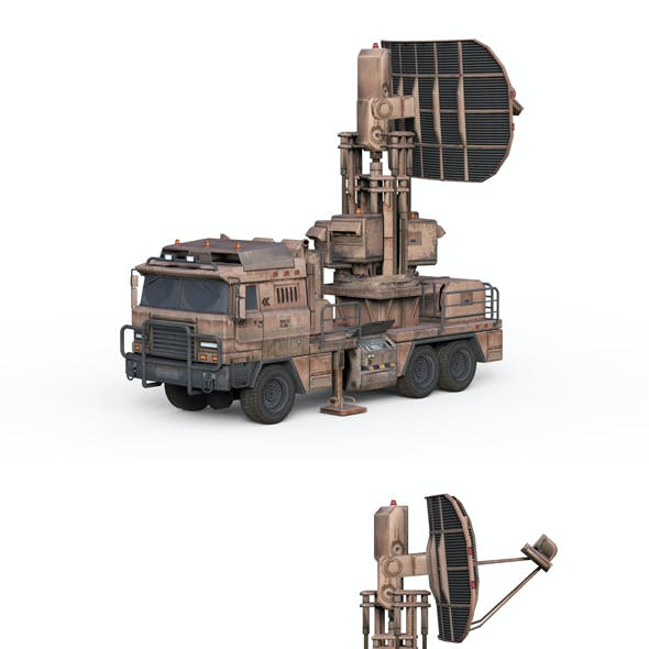 Military vehicle with radar