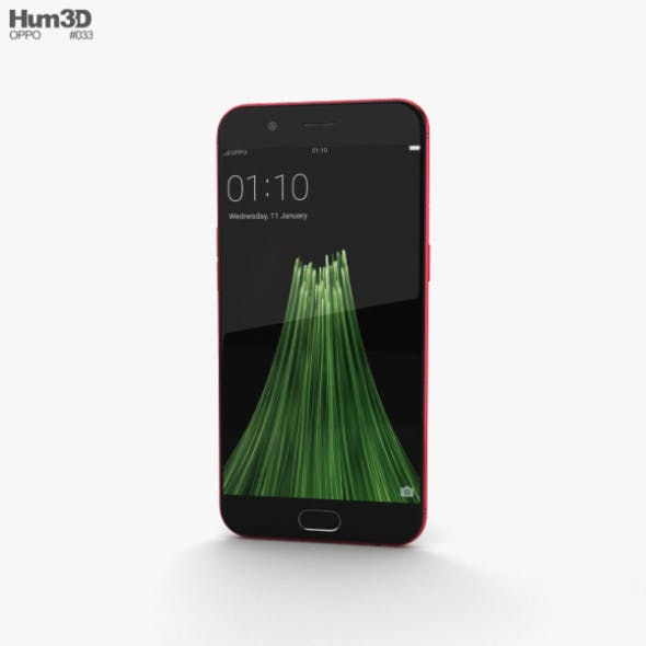 Oppo R11 Red - 3DOcean Item for Sale
