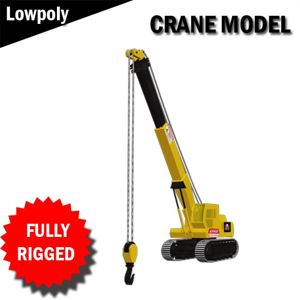 Crane Model Fully RIgged VR / AR / low-poly 3d model - 3DOcean Item for Sale