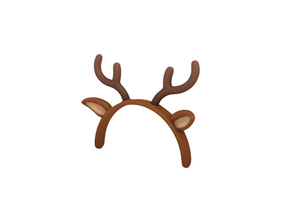Deer ear headband - 3DOcean Item for Sale
