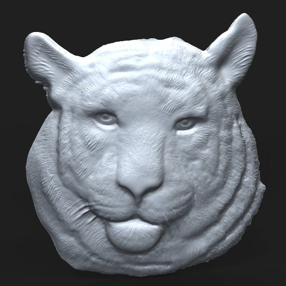 Siberian Tiger Head relief - 3DOcean Item for Sale