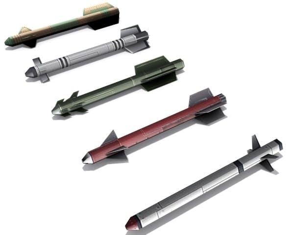 Short Range Missiles - 3DOcean Item for Sale