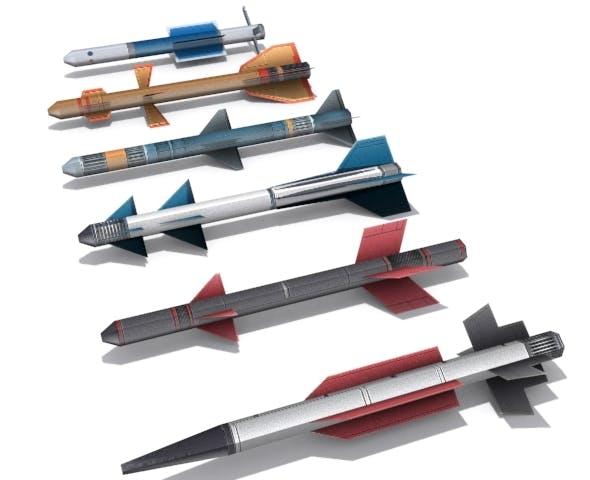 Medium Range Missiles - 3DOcean Item for Sale