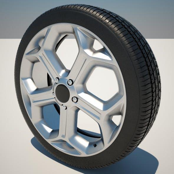 17 Inch Y-Spoke Alloy Wheel - 3DOcean Item for Sale