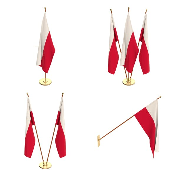 Poland Flag Pack - 3DOcean Item for Sale