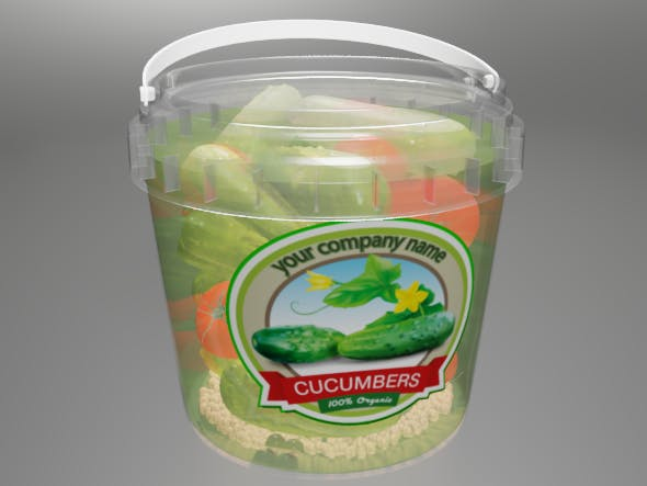 jar of pickled cucumbers - 3DOcean Item for Sale
