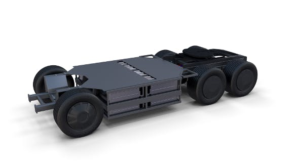 Tesla Semi Truck Chassis - 3DOcean Item for Sale