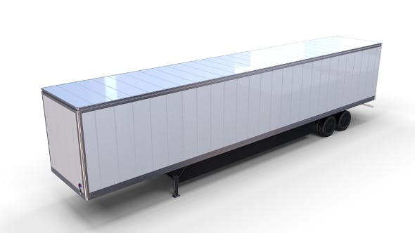 Box Semi Trailer - 3DOcean Item for Sale