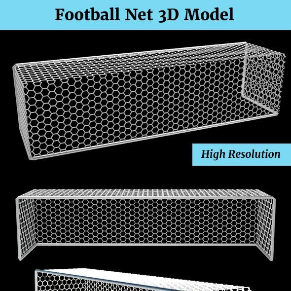Football Goal Net 3D Model