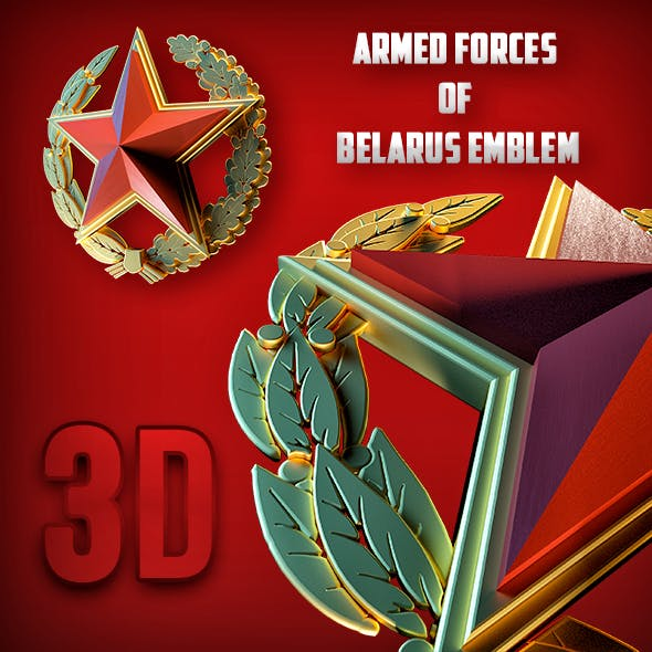 3D Belarus armed forces - 3DOcean Item for Sale
