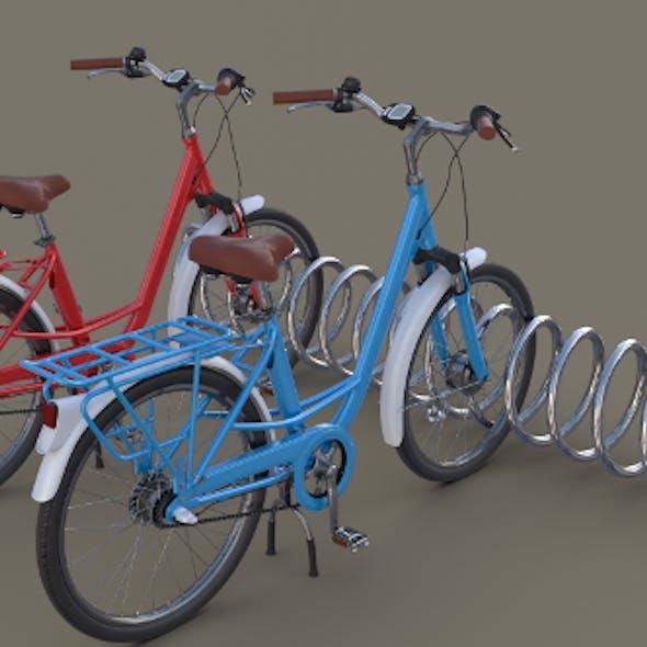 Bike Stand with Bikes