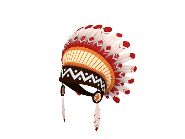 Native American Headdress - 3DOcean Item for Sale