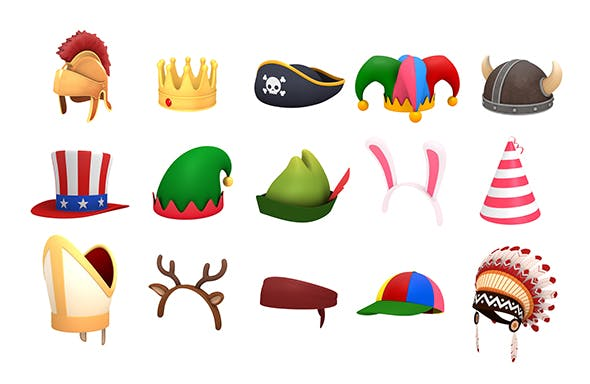 Hats and Helmet Pack 2 - 3DOcean Item for Sale