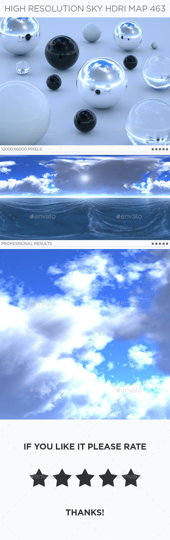 High Resolution Sky HDRi Map 463 - 3DOcean Item for Sale