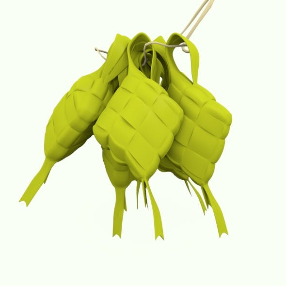 Ketupat Traditional Food - 3DOcean Item for Sale